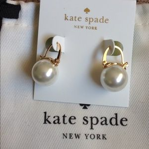 Kate spade pearl drop earrings lever back